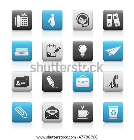 Office & Business Web Icons // Matte Series - stock vector