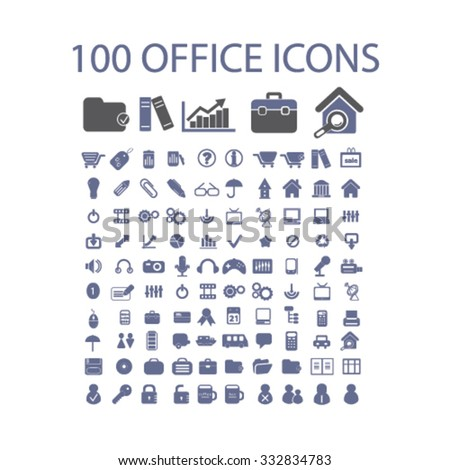 office, business, website icons