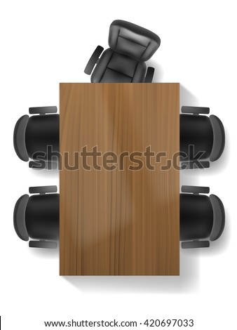 Office Chair Table Top View Vector Stock Vector 420697033