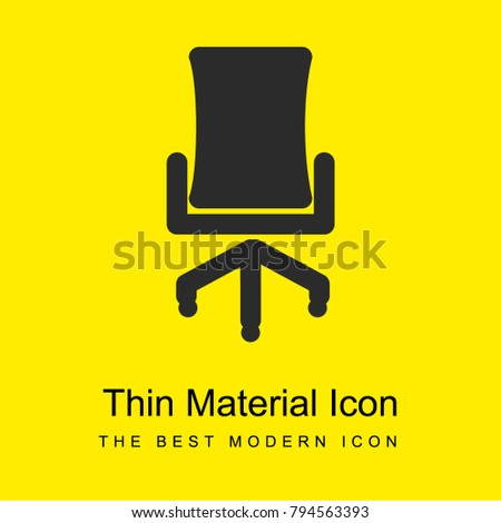 office chair bright yellow material minimal stock vector 794563393