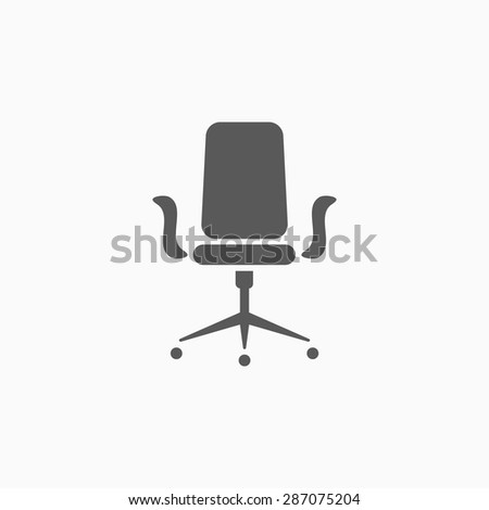 office chair icon - stock vector