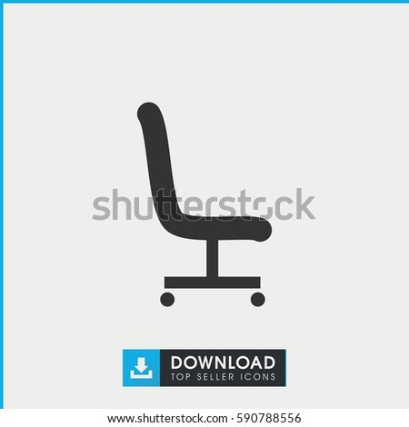 office chair icon. Office Chair Icon. Simple Filled On White Background. Icon