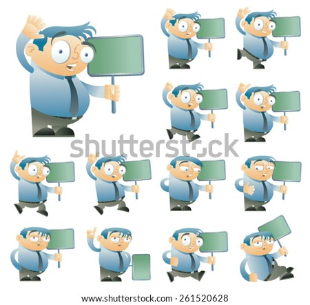 Office character set one - stock vector