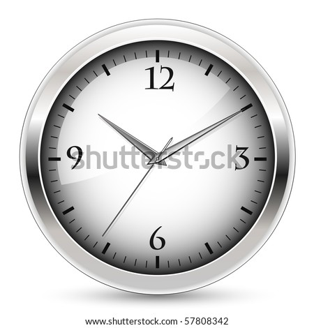 Office clock - stock vector