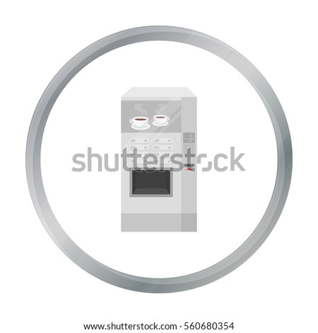 Office coffee vending machine icon in cartoon style isolated on white background. Office furniture and interior symbol stock vector illustration.