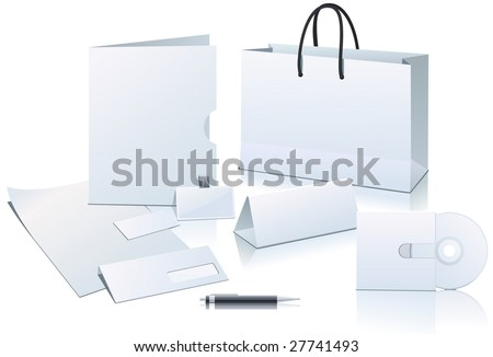 Office elements for corporate identity - stock vector