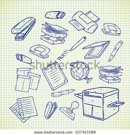 office equipment - stock vector