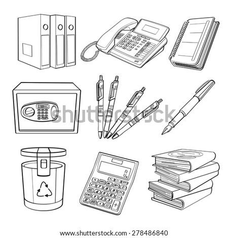 Office Equipment - stock vector