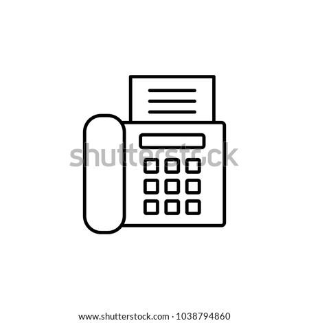 Office fax printer machine line vector stock vector 1038794860 office fax printer machine line vector black icon sciox Gallery