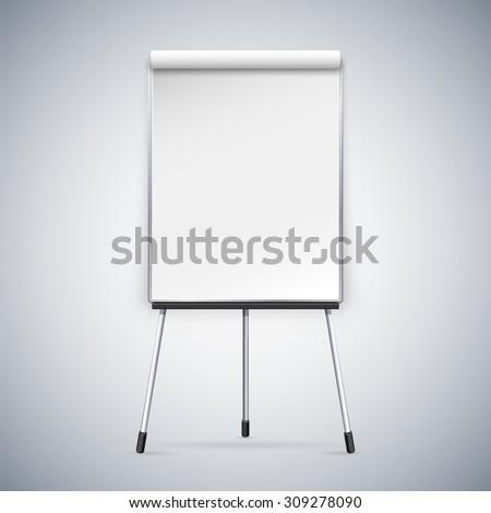 Office Flipchart - stock vector