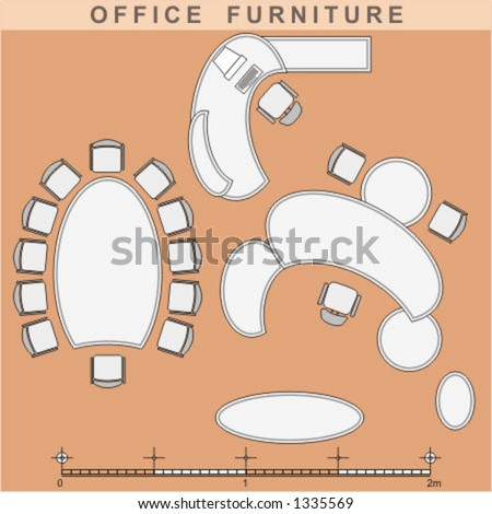 Simple Office Furniture Vector Free Vector In Encapsulated PostScript Eps