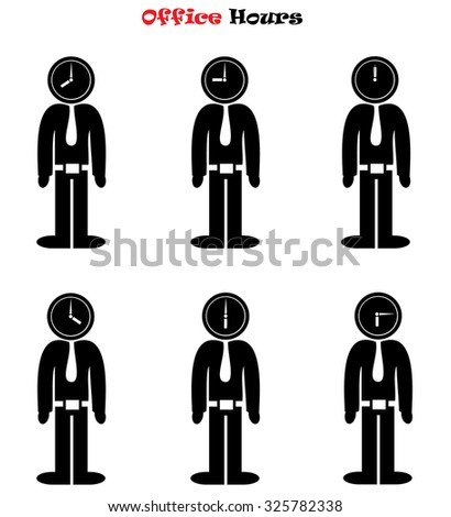 Office Hours concept vector illustration isolated over white background