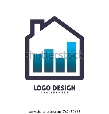 office house chart logo design