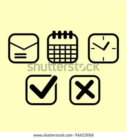 Office icons set vector illustration - stock vector