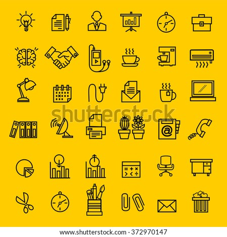 Office icons vector.