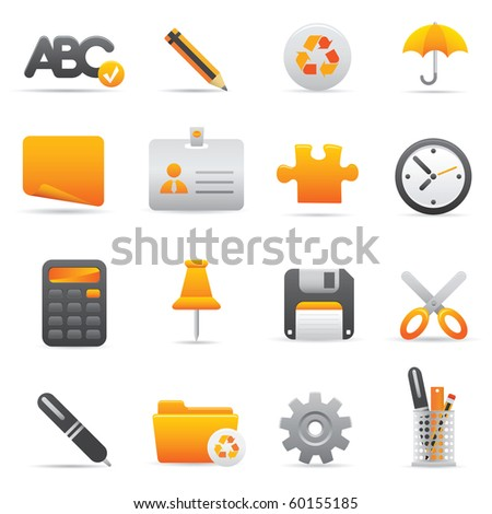 Office Icons, Yellow09 Professional icons for your website, application, or presentation - stock vector