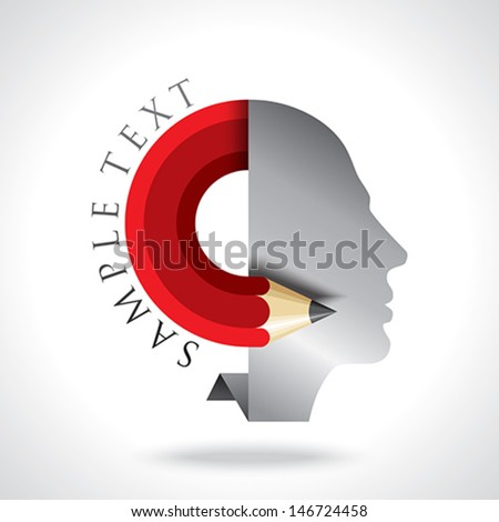 office idea think vector - stock vector