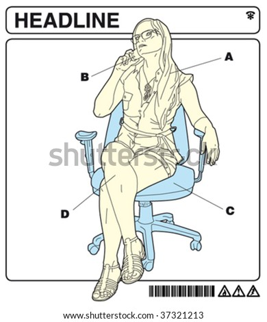 office instructions 5 - stock vector