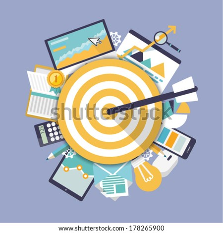 Office object. Business activity. Flat vector illustration. - stock vector