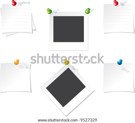 Office paper - stock vector
