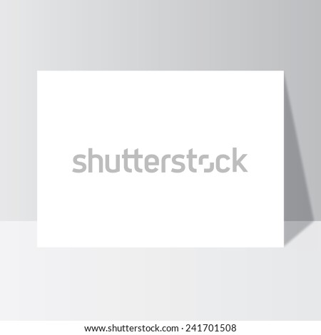 Office paper mock-up, magazine, brochure, book, notebook, leaflet with shadow to business - stock vector