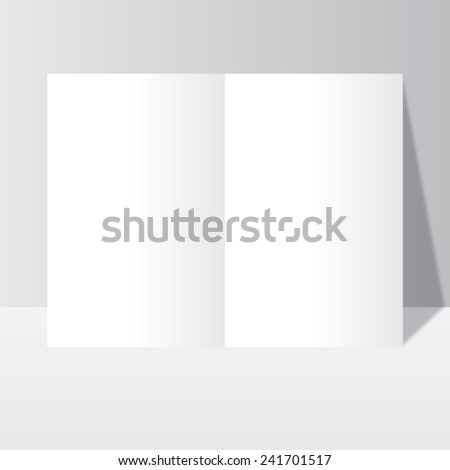 Office paper mock-up, magazine, brochure, book, notebook, leaflet with shadow to business