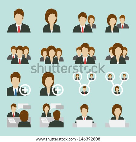 Office people icons design, vector - stock vector