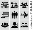 Office people icons set. - stock photo