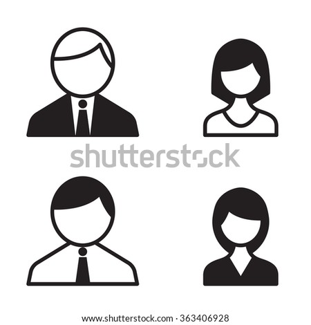 Office people icons set - stock vector