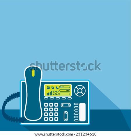 Office Phone - stock vector