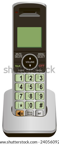Office phone for local use. Vector illustration. - stock vector