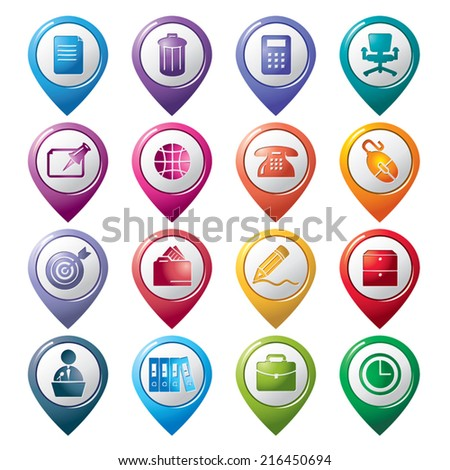 Office Pointer Icons - stock vector