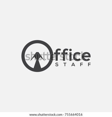 Office Staff Logo Template Design With Stylized Letter O Vector Illustration