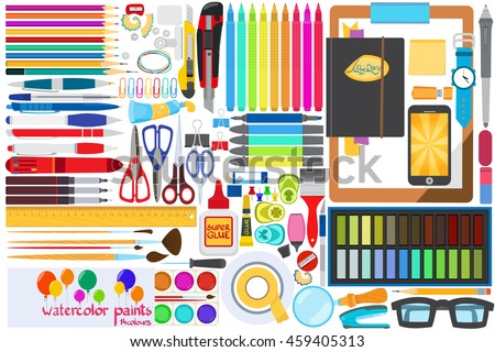 Office Stationery Stock Images, Royalty-Free Images & Vectors ...