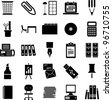 office supplies icons - stock