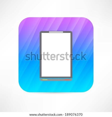 office tablet - stock vector