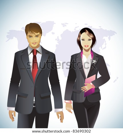 Office Team/Young Colleagues - stock vector