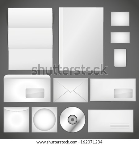 Office template isolated on gray background