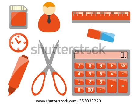 Office tools - stock vector