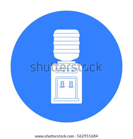 Office water cooler icon in black style isolated on white background. Office furniture and interior symbol stock vector illustration.
