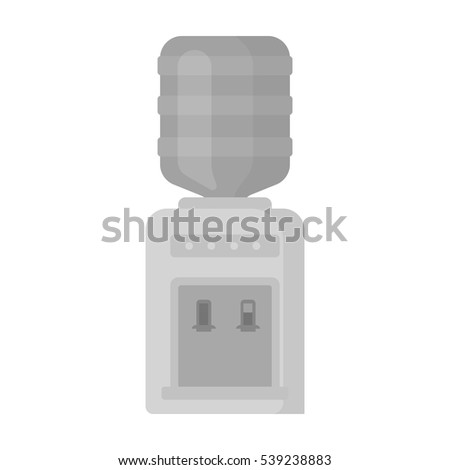 Office water cooler icon in monochrome style isolated on white background. Office furniture and interior symbol stock vector illustration.