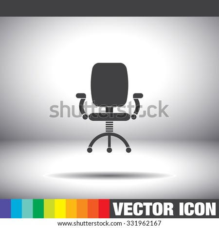 office work chair vector icon