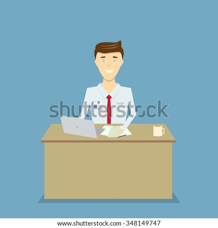 office worker at computer