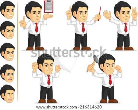 Office Worker Customizable Mascot 10 - stock vector