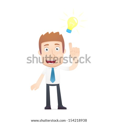 office worker in various poses for use in advertising, presentations, brochures, blogs, documents and forms, etc. - stock vector