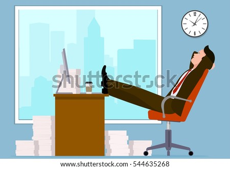 Office worker, vector illustration.
