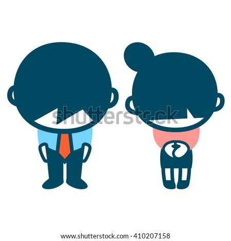 office workers,apologize - stock vector