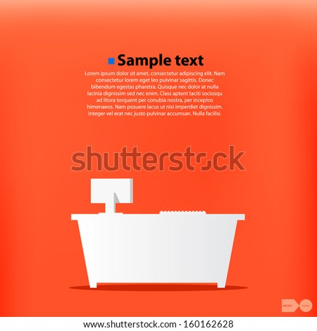 Office workplace vector background - stock vector