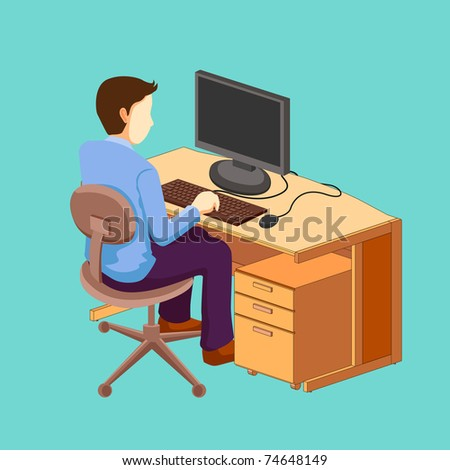 official isometric - stock vector