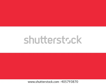 Official national flag of Austria - stock vector